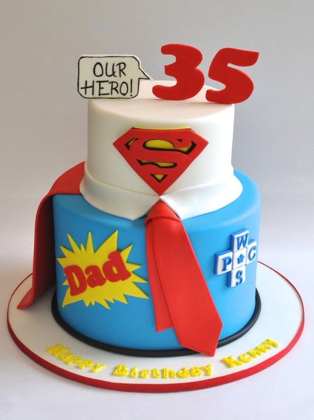 Birthday Cake For Dad Superdad Cake Hopes Sweet Cakes Pinterest Cake Dad Cake And - birijus.com
