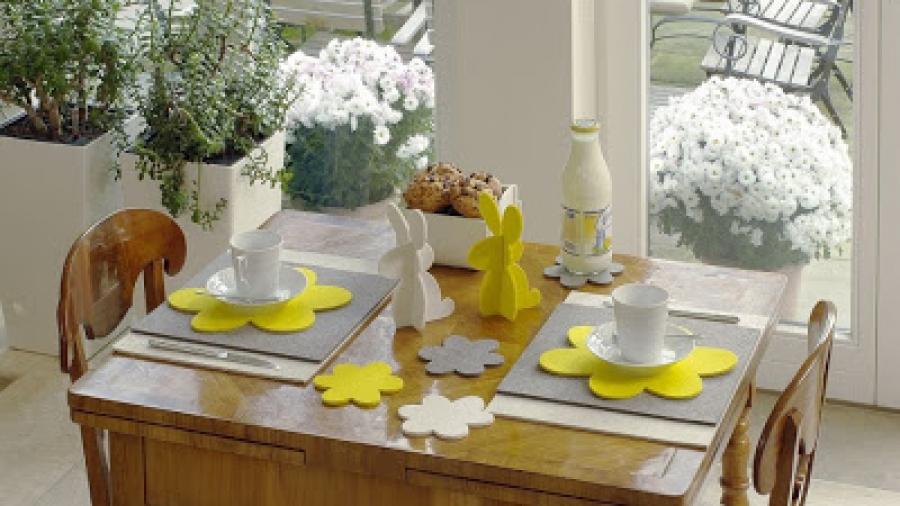 tavola di pasqua in feltro