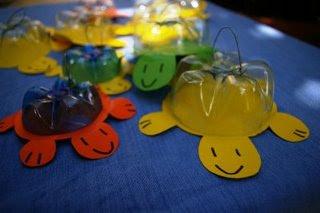 tartarughe di plastica