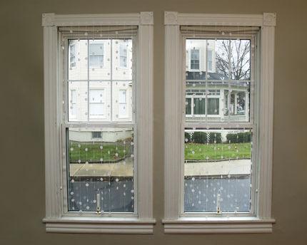 finestra con la neve