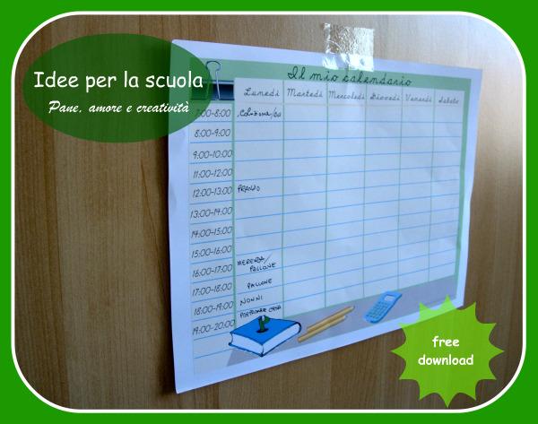 calendario scuola