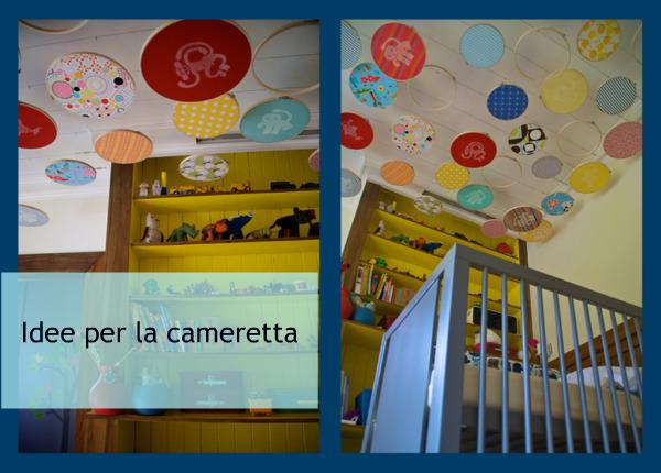 Decorazioni per la cameretta con telai e stoffe pane amore e creativit - Decorazioni per camerette bambini fai da te ...
