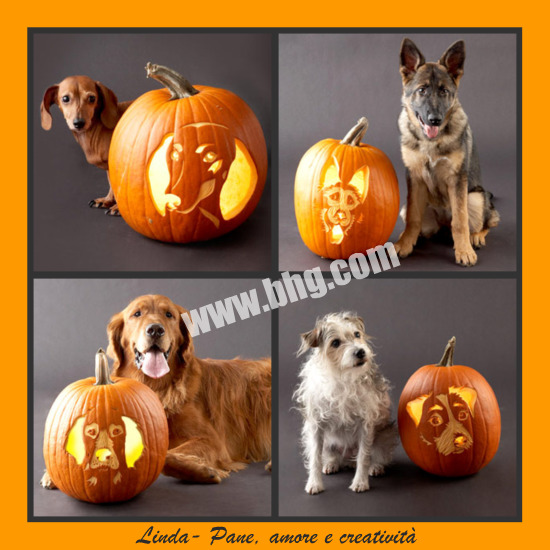 Stencil di cani per decorare la zucca di halloween pane for Decorazioni halloween finestra