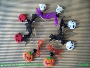 orecchini di halloween in fimo