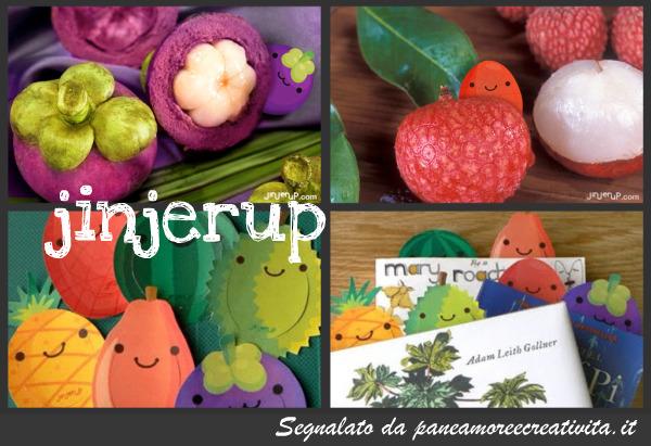 segnalibri a forma di frutta