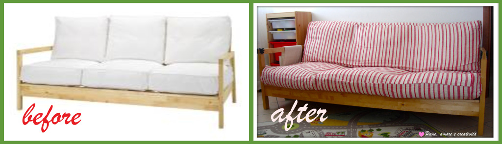 Divano ikea Lillberg (before and after)