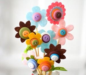 bacchette magiche con fiori