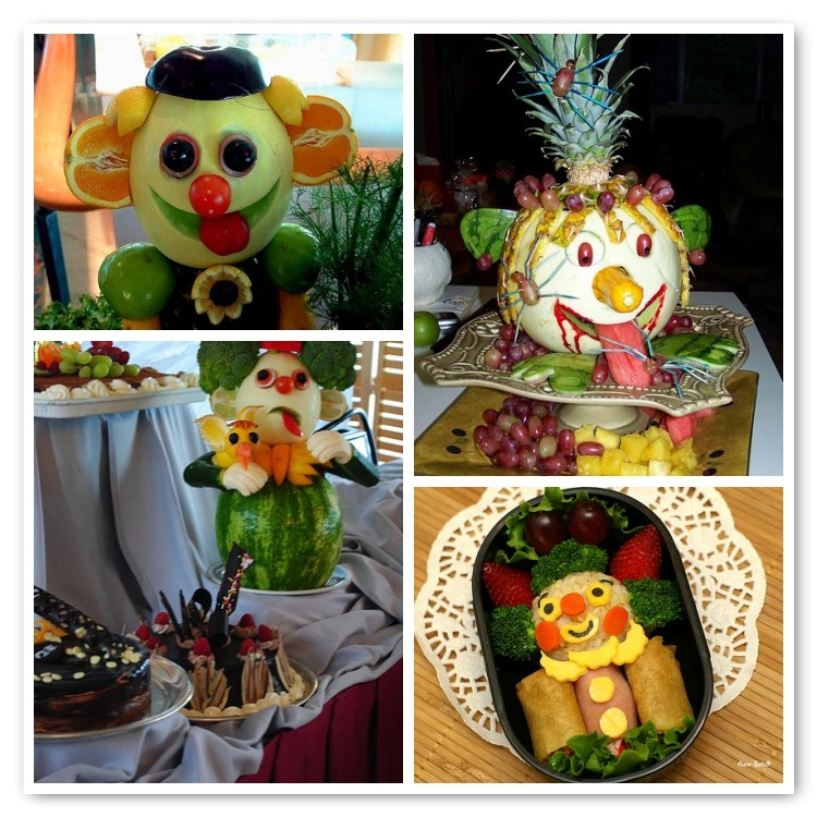 clown di frutta