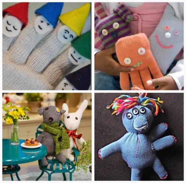 giocattoli fatti con i guanti