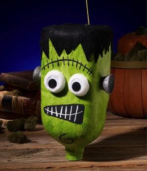 mostro verde per halloween