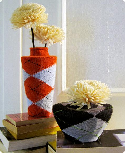 vasi di fiori ricoperti