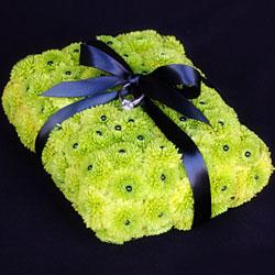cuscino portafedi con fiori