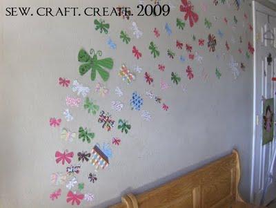 farfalle sulle pareti