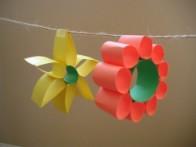 fiori da appendere di carta