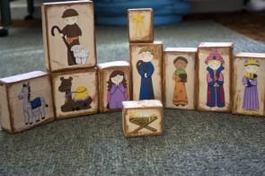 presepe di legno