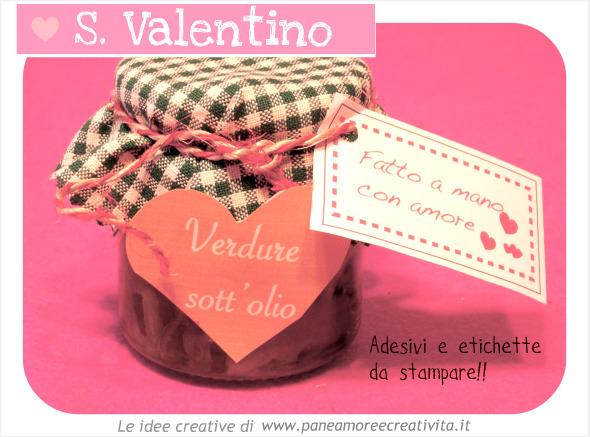 Idee S. Valentino: vasetti di conserve da regalare