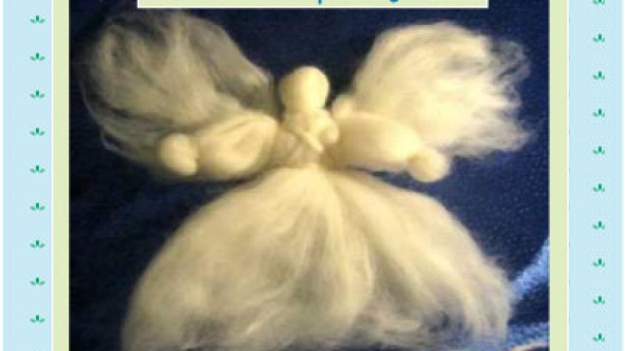 come fare un angelo di lana