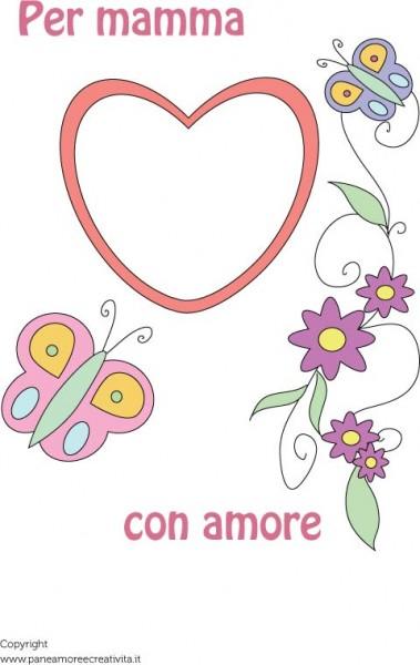 Festa Della Mamma Un Biglietto Cornice Da Stampare Pane Amore E