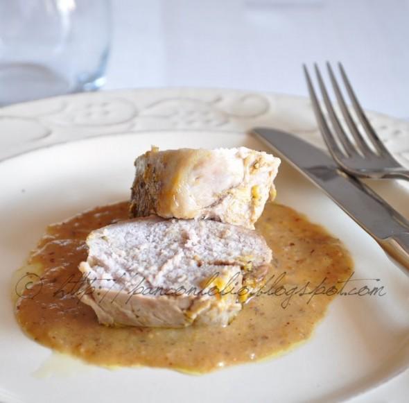 Filetto di maiale al sapore d'arancia e nocciole