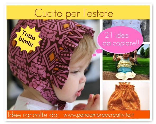 541a6b41e633 Cartamodelli e tutorial per l estate  idee per i bambini · Pane ...