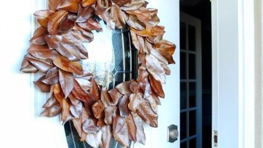 Ghirlanda con foglie di Magnolia