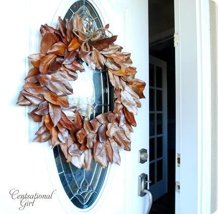 Decorazioni Natalizie Con Foglie Di Magnolia.Una Ghirlanda Di Foglie Di Magnolia