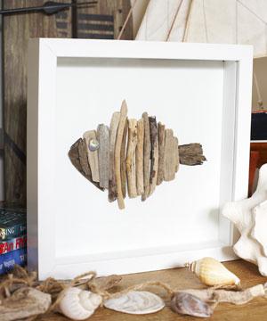 Creare con i legni portati dal mare pane amore e creativit for Planimetrie semplici della casetta di legno