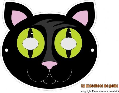 Halloween fai da te la maschera da scheletro da stampare - Pagina colorazione maschera gatto ...