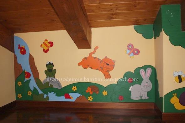 parete-cameretta-con-gatto-e-coniglio