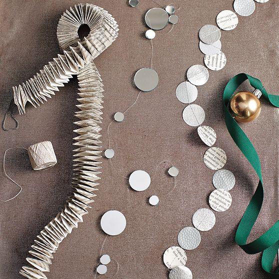 Decorazioni e ghirlande di natale idee dell 39 ultimo minuto for Ghirlande di carta