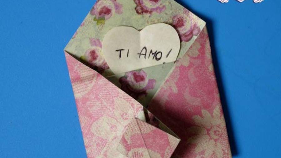 busta origami fai da te