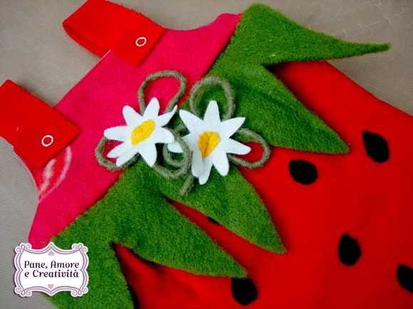 Costumi per Carnevale con cartamodello: la fragola