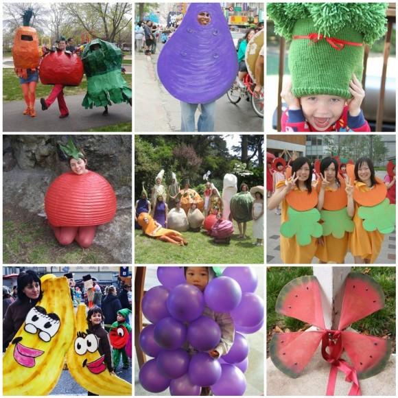 costumi da frutta e verdura
