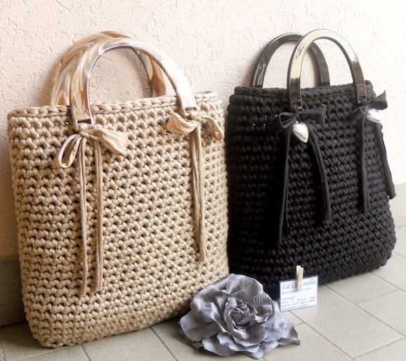 Crochet Bags And Purses Tutorial : Come creare una borsa con la fettuccia Pane, Amore e Creativit?