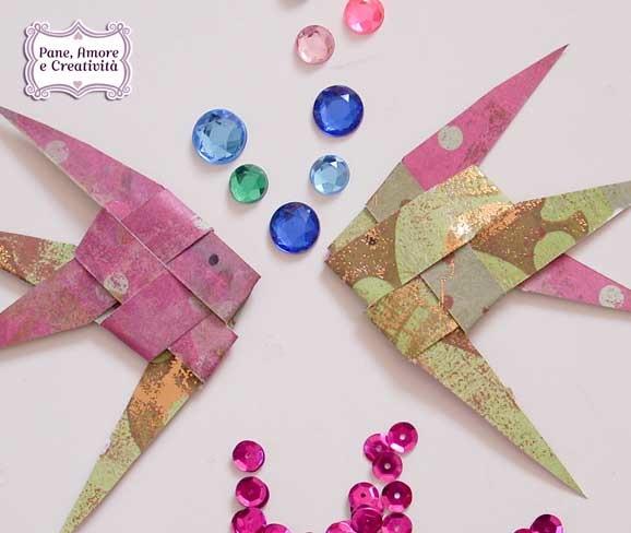 Pesci origami vi spiego come li ho fatti pane amore e for Creare pesci