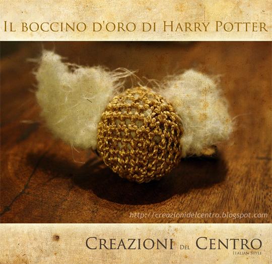 Free amigurumi: Harry Potter's Golden Snitch crochet pattern