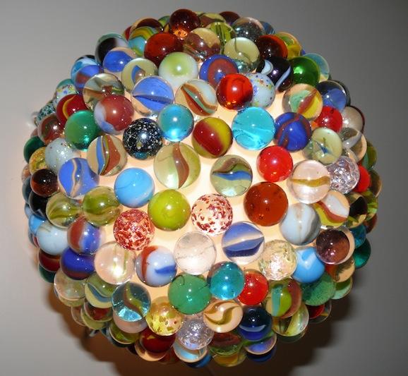 Arredo fai da te: la lampada di biglie vintage - Pane, Amore e Creatività  P...