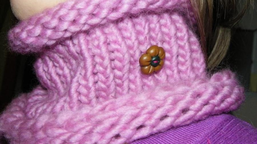 scaldacollo con i cerchi per la maglia