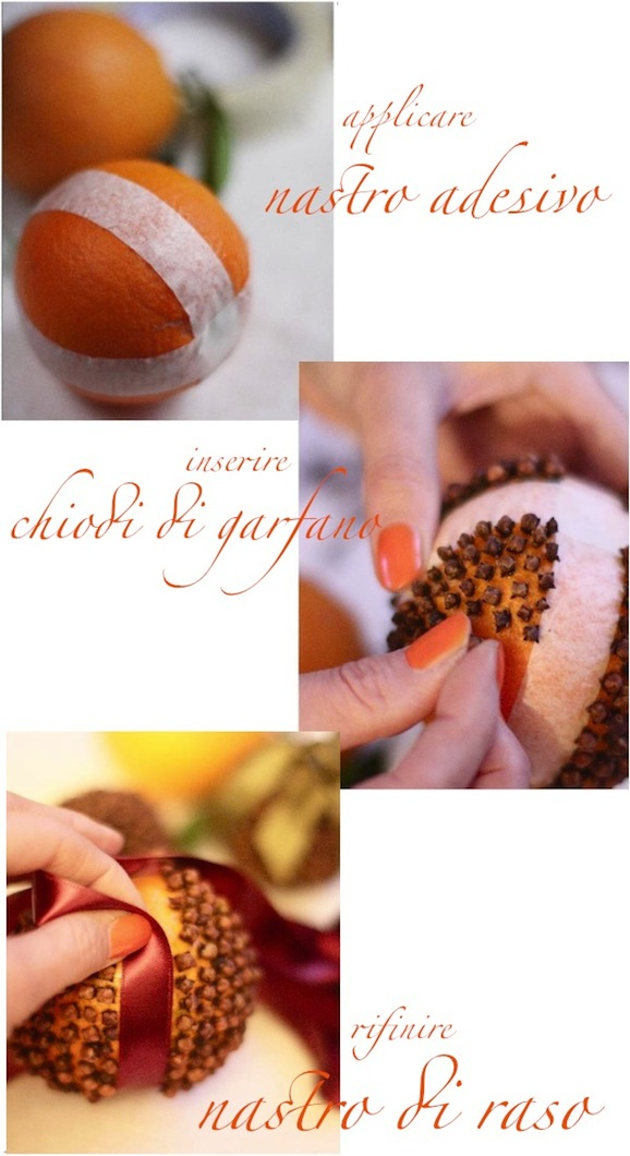Decorazioni per la tavola di natale orange pomander pane amore e creativit - Decorazioni per la tavola di natale ...