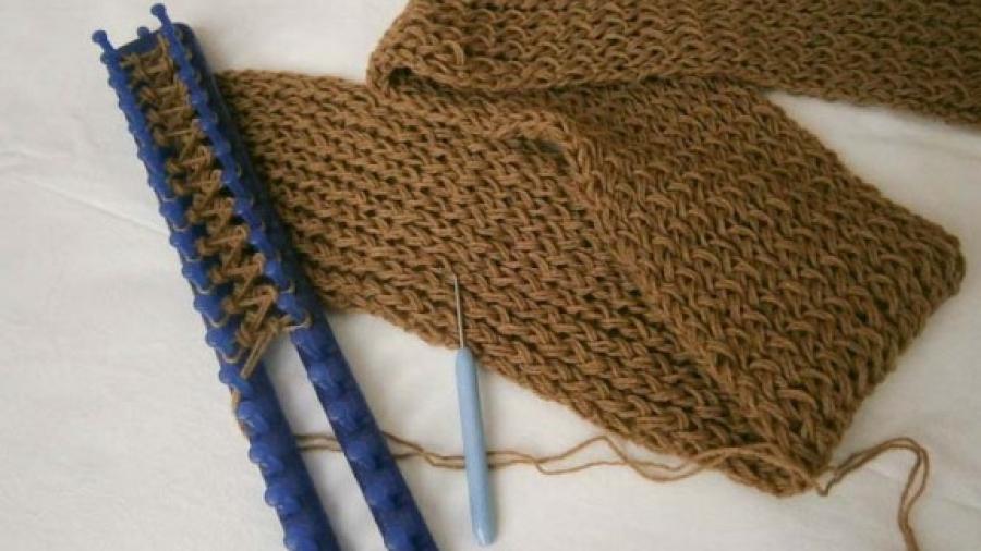 comprare popolare 189b6 19092 Il mio scaldacollo a maglia fatto con il telaio e la lana ...