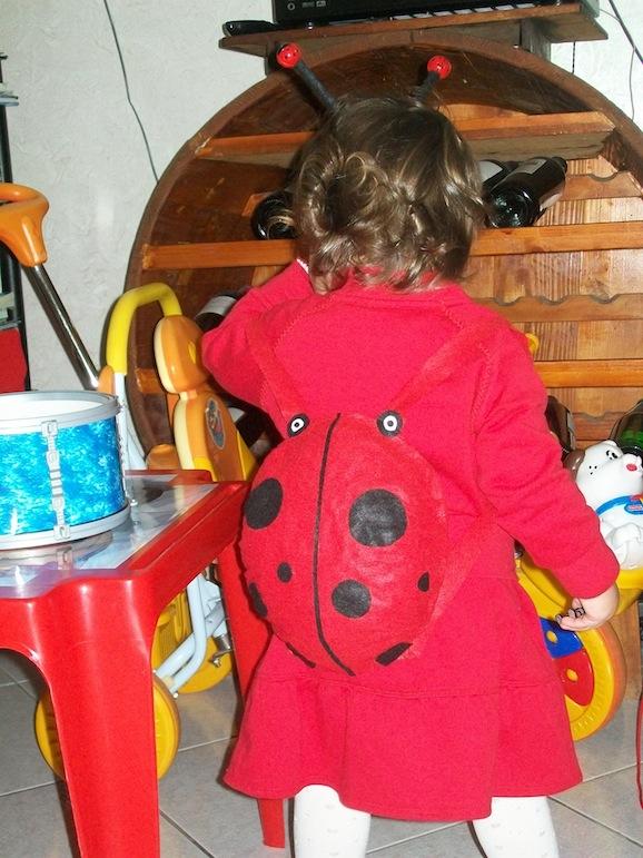 costume coccinella retro