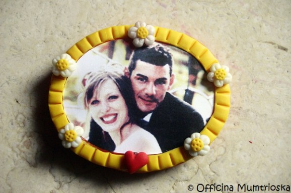 Tutorial valentine: the frames of polymer clay with magnet