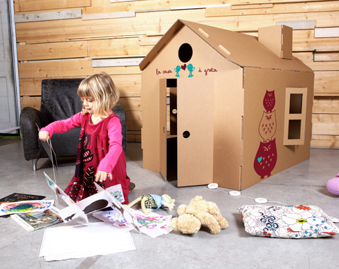 Micasa le casette in cartone per bambini pane amore e creativit - Casa di cartone ...