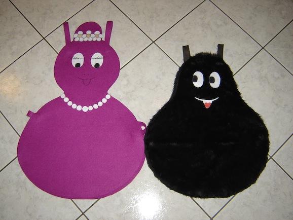 Costumi carnevale fai da te barbabella e barbabarba del for Papillon bambino fai da te