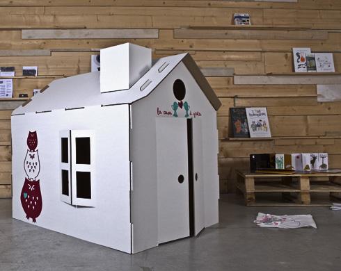 Micasa le casette in cartone per bambini pane amore e creativit - Casetta in cartone da colorare ...
