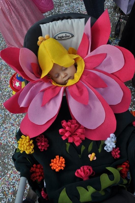 Idee di carnevale il costume da fiorellino per neonato for Idee per carri di carnevale semplici