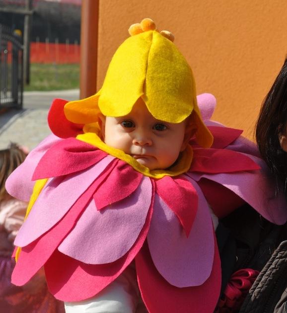 Idee di carnevale il costume da fiorellino per neonato pane amore e creativit - Come cucire costume da bagno ...
