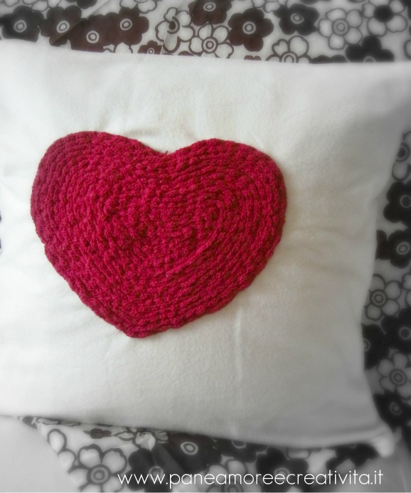 Valentine's Day with heart pillow