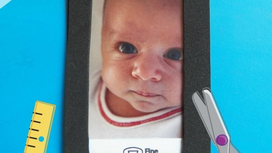 lavoretto festa papa - iphone con la foto bambino
