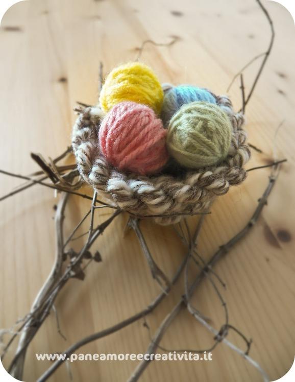 Decorazioni di pasqua come fare nido e ovetti con - Decorazioni per pasqua ...